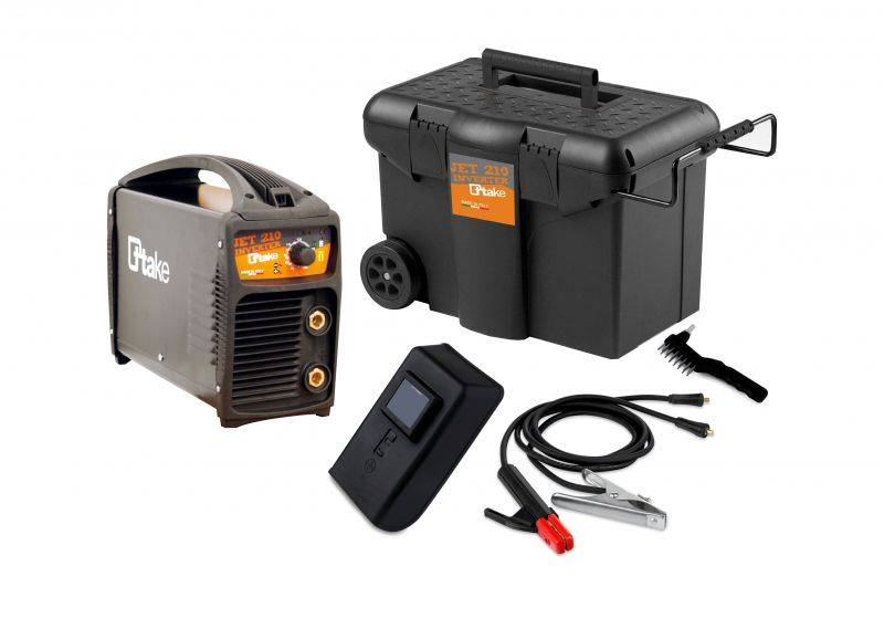 Saldatrice ad inverter JET 210 C con accessori e trolley - Immagine 1